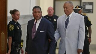 Mr Cosby attending a hearing in June