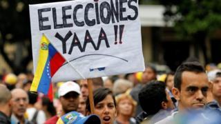 Protestos em Caracas