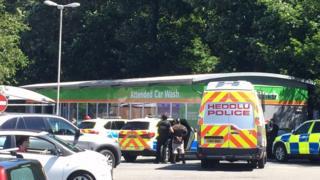 Police at Tesco, Western Avenue, Cardiff