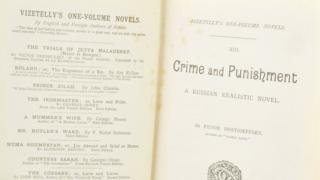 Photo of the first pages of Crime and Punishment