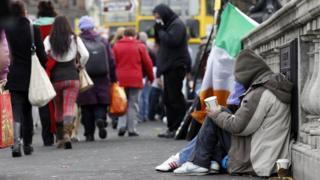Homeless man in Dublin