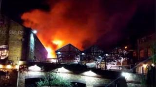 آتش سوزی در شمال لندن