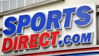 Sports Direct sign outside a shop
