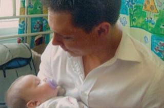 Ben Butler with his newborn daughter Ellie