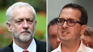 Jeremy Corbyn (solda) ve Owen Smith.