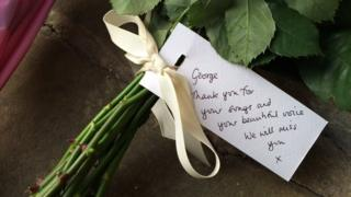 """""""George, thank you for your songs and your beautiful voice. We will miss you"""": A tribute outside George Michael's home"""