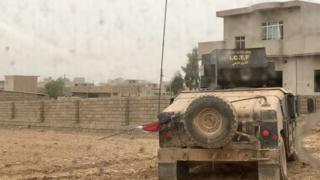Kendaraan militan di Mosul