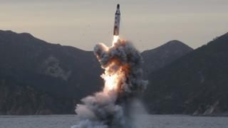 朝鲜在3月22日进行导弹测试