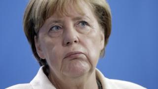 Angela Merkel pictured earlier in August