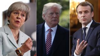 영국, 미국, 프랑스의 시리아에 대한 군사 공격이 시작됐다