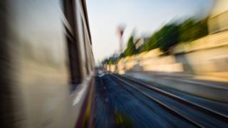 A train at speed