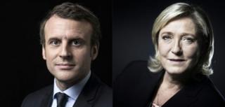 Emmanuel Macron iyo Marine Le Pen ayaa fooda is daridoona labo todobaad gudahood