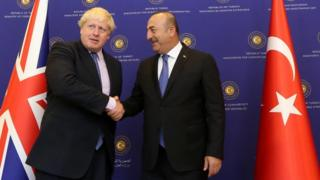 Boris Johnson və Mevlut Cavusoglu