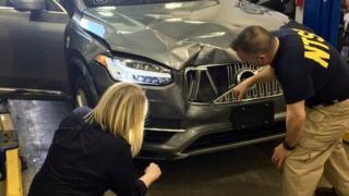 Uber crash vehicle