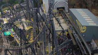 Smiler rollercoaster at Alton Towers