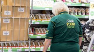 Supermarket worker