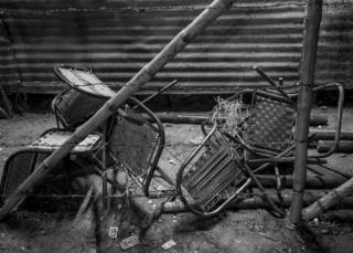 Chairs broken after a performance