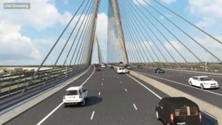 How the motorway would look over the River Usk in Newport