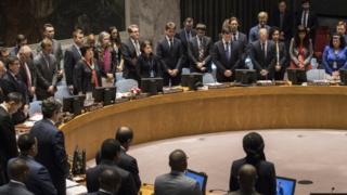 بدأ مجلس الأمن جلسته الطارئة بدقيقة صمت حدادا على أرواح القتلى الفلسطينيين