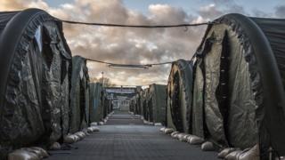A new camp for migrants in Vordingborg, 100 km south of Copenhagen, 26 November
