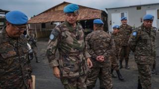 Des casques bleus en République démocratique du Congo