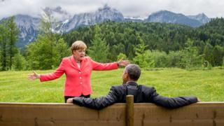 Merkel and Obama, 2015