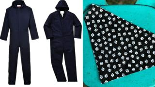 Boiler suits and paw print bandana