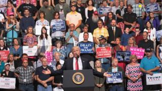 President Donald Trump speaks at a rally on June 21, 2017 in Cedar Rapids, Iowa