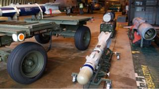 Brimstone missile at RAF Marham in Norfolk