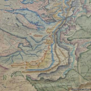Mendip Hills, William Smith's 1815 Geological Map of England and Wales