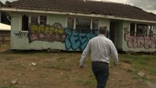 The house dumped on land outside Auckland
