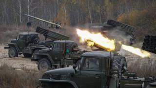 Ukrainian forces test surface-to-surface missiles Devichki shooting range, about 85 km from capital Kiev, Ukraine, 28 October 201