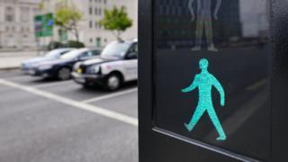 Green man crossing