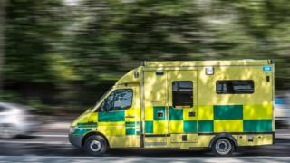 Ambulance on journey