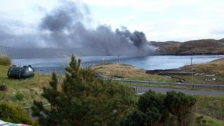 Fire on Isle of Scalpay