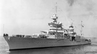 Ubwato USS Indianapolis bwarashwe n'Abayapani mu mpera z'intambara ya kabiri y'isi
