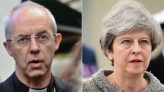 Justin Welby and Theresa May