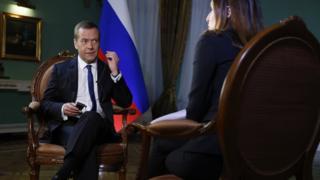 Дмитрий Медведев на интервью
