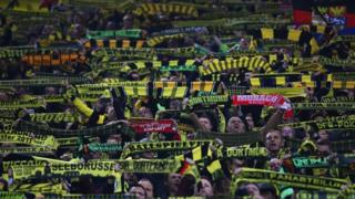 Fans showed a united front at the match on Wednesday