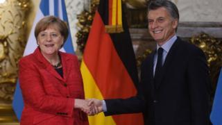 Merkel e Macri