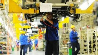 Output from China's factories, workshops and mines has slowed down