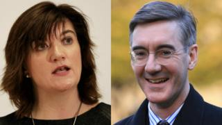 Nicky Morgan and Jacob Rees-Mogg