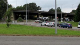 The M4's junction 28 in Newport