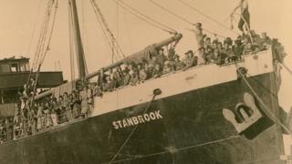 The SS Stanbrook bursting with Spanish refugees in 1939