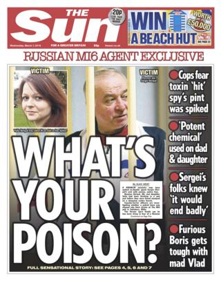 Sun front page - 07/03/18