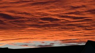 Sunset over Auchterarder