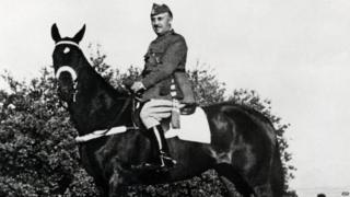 Gen Franco on a horse
