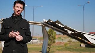 Still from video released online on 19 March 2016 apparently showing John Cantlie in Mosul, northern Iraq