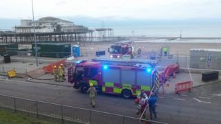 Colwyn Bay Pier fire