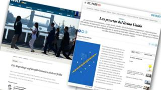 Two articles in newspaper Die Welt and El Pais on Brexit